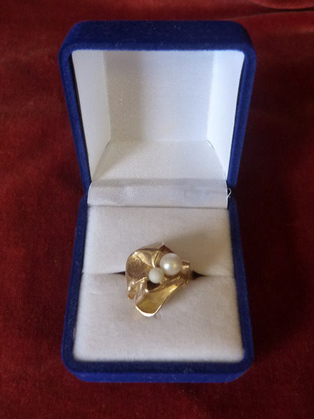 14 Ct Gold Pearl Ring
