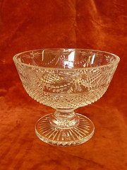 stuart crystal footed crystal glass bowl