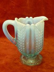 hobnail & fan decorated jug
