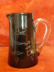 late victorian glass jug