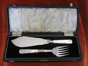 silverplated fish serving set