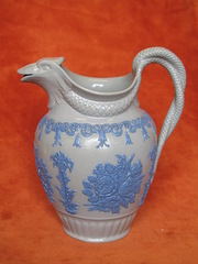 serpent salt glazed jug