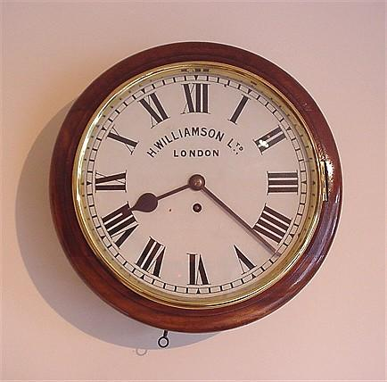 English Fusee Dial Clock. c1875.