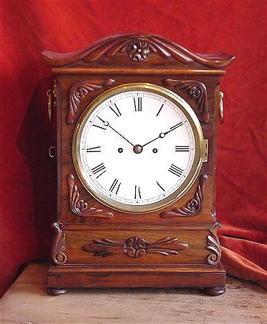 8 day, two train fusee movement Mantel Clock