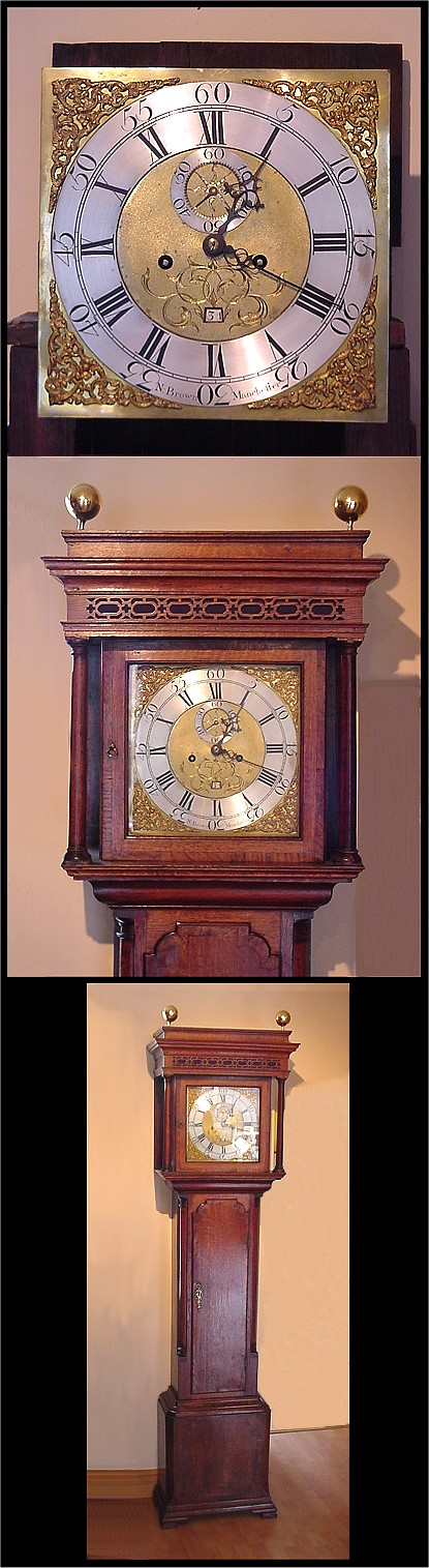 8 day Longcase Clock, by Nat Brown Mcr. c1760