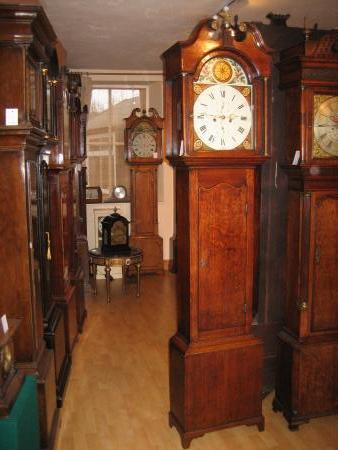 8 Day oak longcase clock 1800.